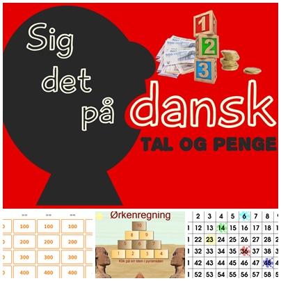 siger på dansk to sind